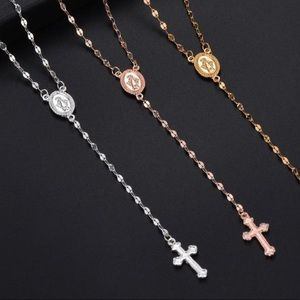 Vintage Cross Rosary Necklace